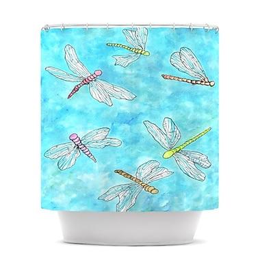 KESS InHouse Dragonfly Shower Curtain