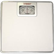 Trimmer Silver Frame Mechanical Bathroom Scale w/ Square Display