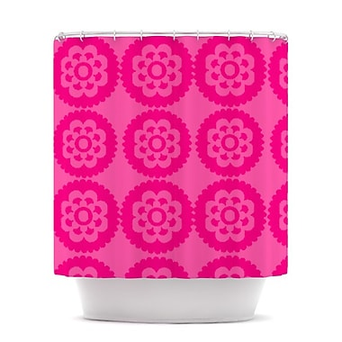 KESS InHouse Moroccan Shower Curtain; Hot Pink