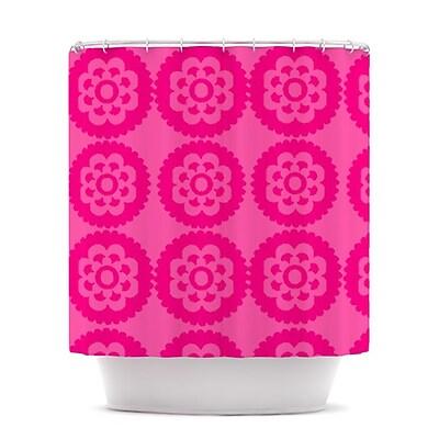 KESS InHouse Moroccan Shower Curtain; Hot Pink