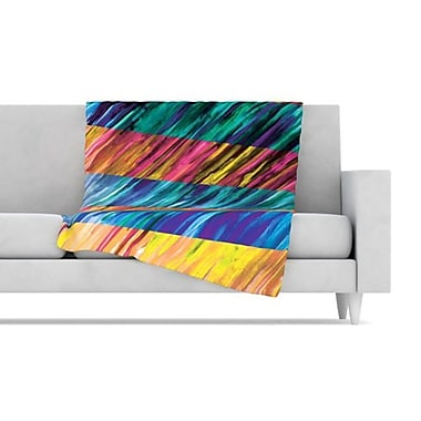 KESS InHouse Set Stripes I Fleece Throw Blanket; 40'' L x 30'' W