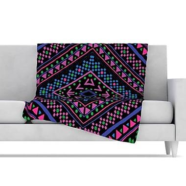KESS InHouse Neon Pattern Fleece Throw Blanket; 80'' L x 60'' W