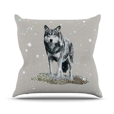 KESS InHouse Wolf Throw Pillow; 18'' H x 18'' W