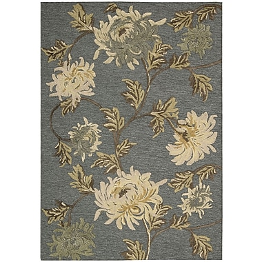 Nourison Sunburst Hand-Tufted Blue/Ivory Area Rug; 2'6'' x 4'