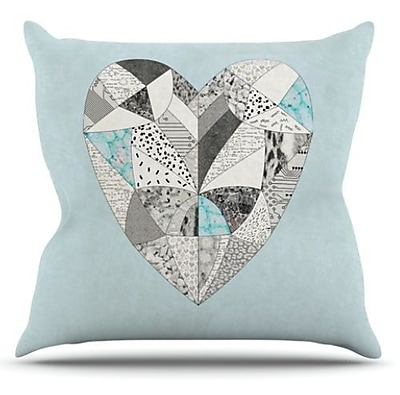 KESS InHouse Comheartment Throw Pillow; 20'' H x 20'' W