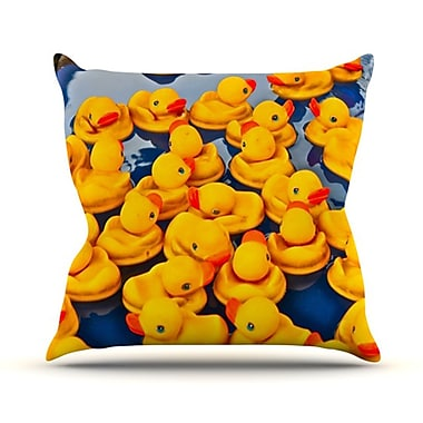 KESS InHouse Duckies Throw Pillow; 18'' H x 18'' W