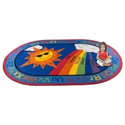 Kid Carpet Sky's the Limit Learning Area Rug; Oval 6' x 8'6''
