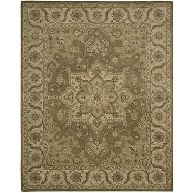 Nourison India House Hand-Woven Olive Area Rug; 5' x 8'