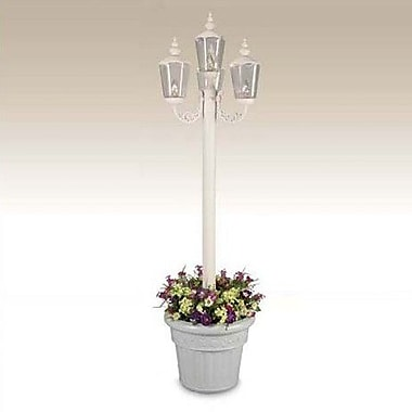 Patio Living Concepts Cambridge Outdoor 4-Light 85'' Post Light; White