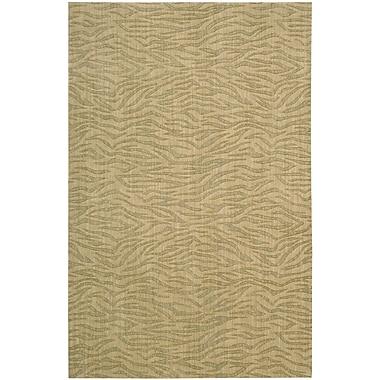 Nourison Cosmopolitan Hand-Woven Beige Area Rug; 3'6'' x 5'6''