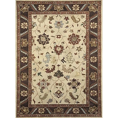 Dynamic Rugs Charisma Harding Ivory / Brown Area Rug; 6'7'' x 9'6''