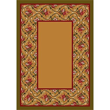 Milliken Design Center Maize Bouquet Lace Area Rug; Runner 2'4'' x 11'8''