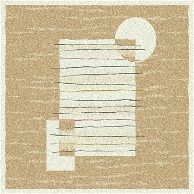 Milliken Pastiche Horizon Ecru Rug; Rectangle 3'10'' x 5'4''
