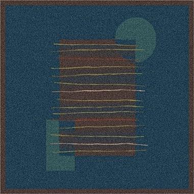 Milliken Pastiche Horizon Blue/Dark Brown Rug; Oval 5'4'' x 7'8''