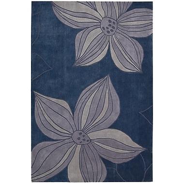 Nourison Contour Hand-Tufted Blue Area Rug; 3'6'' x 5'6''
