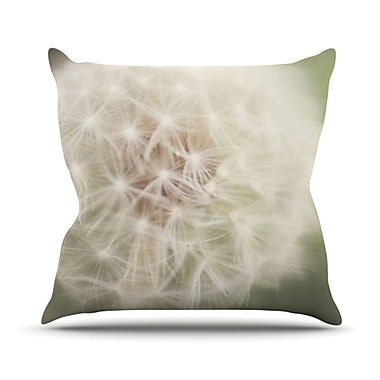 KESS InHouse Dandelion Throw Pillow; 16'' H x 16'' W