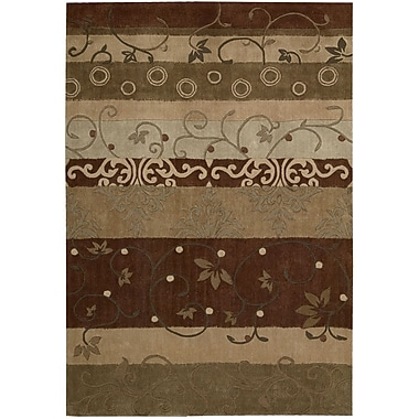 Nourison Contour Hand-Tufted Beige/Brown Area Rug; 7'3'' x 9'3''