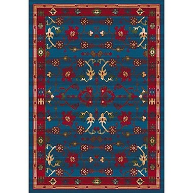 Milliken Pastiche Kashmiran Sharak Summer Night Blue Area Rug; Square 7'7''