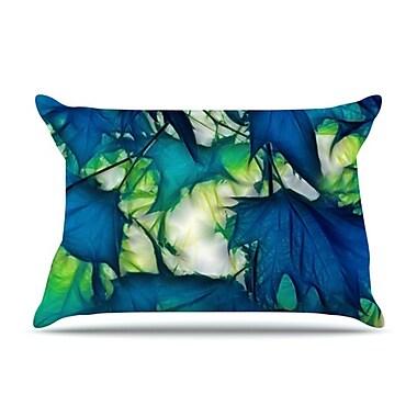 KESS InHouse Leaves Pillowcase; Standard
