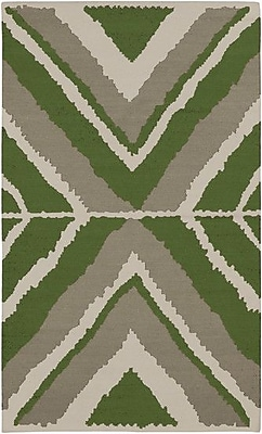 Beth Lacefield Alameda Gray/Spinach Green Area Rug; 5' x 8'