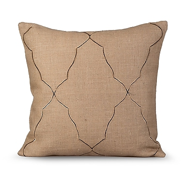Gracious Living Mesmerize Burlap Throw Pillow; Natural