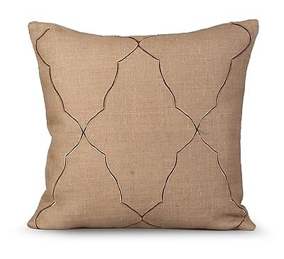 Gracious Living Mesmerize Burlap Throw Pillow; Natural