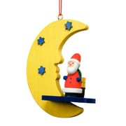 Christian Ulbricht Santa by Yellow Moon and Blue Stars Ornament