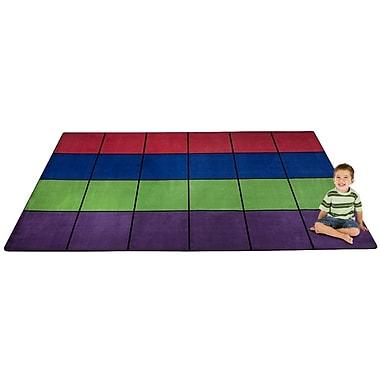 Kid Carpet Blocks Seating Area Rug; 7'6'' x 12'