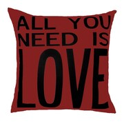 Uptown Artworks All You Need is Love Throw Pillow; Red