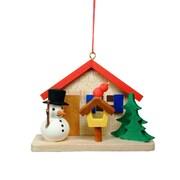 Christian Ulbricht Snowman by House Ornament