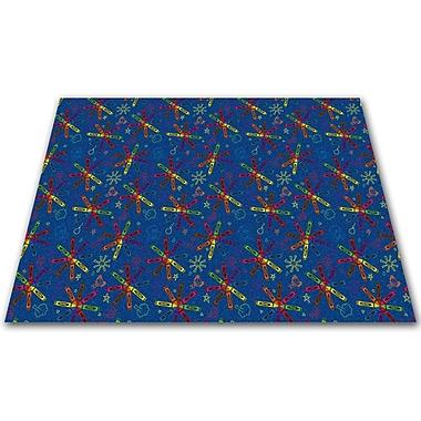 Kid Carpet Crayon Scribbles Kids Rug; Square 12'