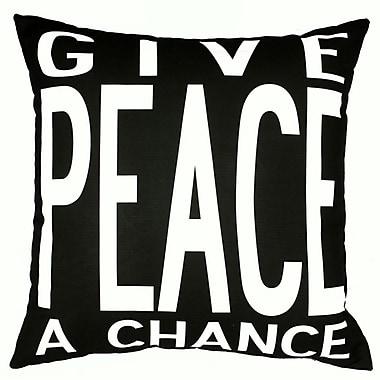 Uptown Artworks Peace Throw Pillow; Black