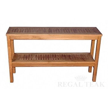 Regal Teak Two Level Buffet Sideboard