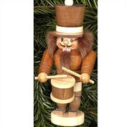 Christian Ulbricht Natural Wood Mini Drummer Nutcracker