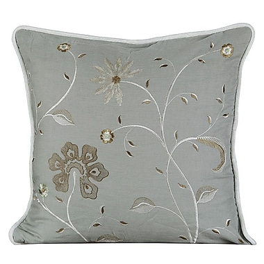 Gracious Living Golden Throw Pillow; Mist