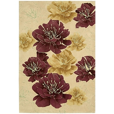 Kathy Ireland Home Gallery Palisades Joshua Blossom Hand-Tufted Beige/Red Area Rug; 5' x 7'6''