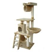 Kitty Mansions 62'' Boston Cat Tree; Beige