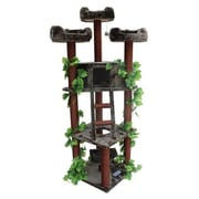 Kitty Mansions 75'' Redwood Cat Tree