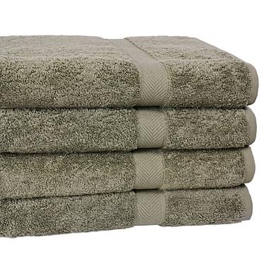 Homestead Textiles Ring Spun Cotton Line Bath Towel 4 Piece Towel Set (Set of 4); Sage