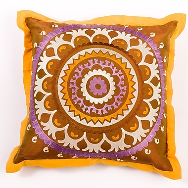 Filling Spaces Ikat and Suzani All Suzani Silk Pillow Cover