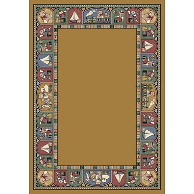 Milliken Signature Toy Parade Golden Topaz Area Rug; Rectangle 2'1'' x 7'8''