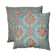 Pillow Perfect Mirage and Chevron Floor Pillow (Set of 2)
