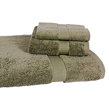 Homestead Textiles Ring Spun Cotton Line 3 Piece Towel Set (Set of 3); Sage