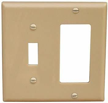 Morris Products 2 Gang 1 Toggle 1 GFCI Lexan Wall Plates in Ivory