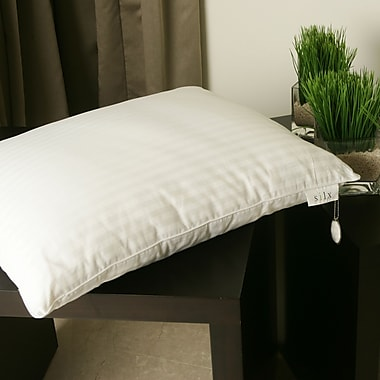 Silx Bedding Silk-Filled Double Down Alternative Pillow; Queen
