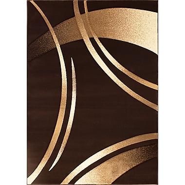 Segma Reflections Dark Brown Rug; 7'10'' x 10'6''