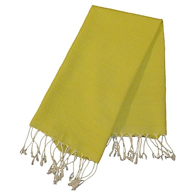 Scents and Feel Fouta Honeycomb Weave Hand Towel; Chartreuse Green