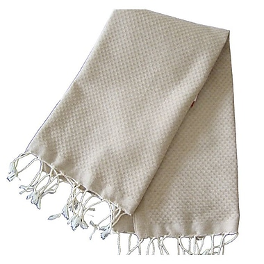 Scents and Feel Fouta Honeycomb Weave Hand Towel; Beige