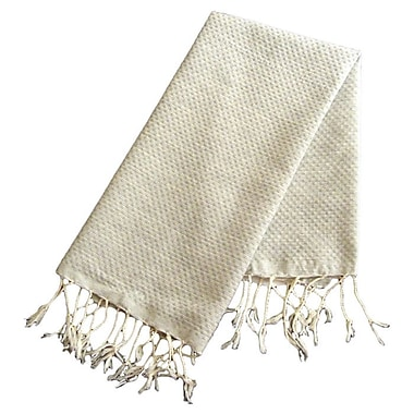 Scents and Feel Fouta Honeycomb Weave Hand Towel; Pearl Gray