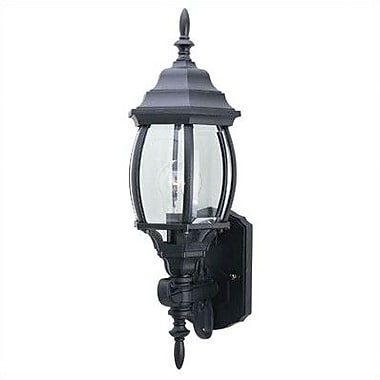 Westinghouse Lighting Exterior 1-Light Outdoor Sconce; Black Powder Coated